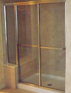 byRoman Sliding Framed Shower Door Installation Greater Philadelphia PA Area